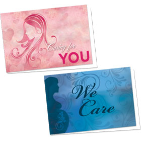 Full-Color Medical Appointment Cards Assortment - Caring Swirls