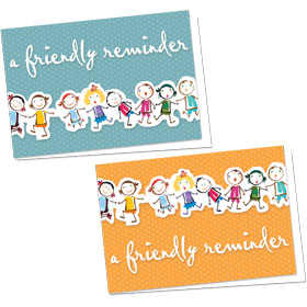 Full-Color Medical Appointment Cards Assortment - Kids Lineup