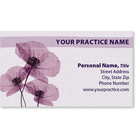Business Card-Purple Poppies