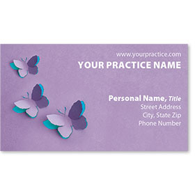 Medical Business Cards - Butterfly Trio