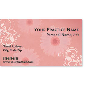 Medical Business Cards - Delicate Floral