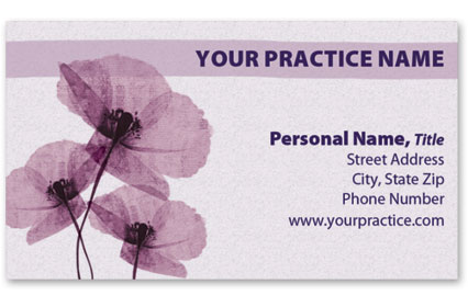 Business Card with Appointment Back