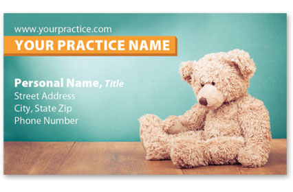 Medical Business Cards w/ Appointment - Teddy