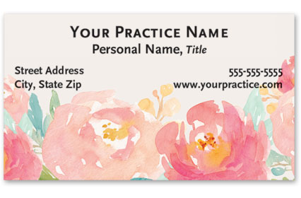 Medical Business Cards w/ Appointment - Modern Floral