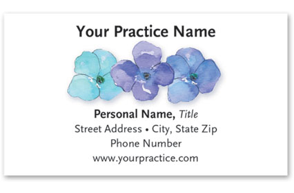 Business Card with Appointment Back - Violets