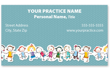 Business Card with Appointment Back - Kids Line Up
