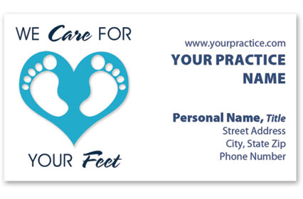 Business Card with Appointment Back - Foot Love