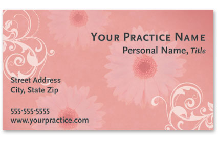 Medical Business Cards w/ Appointment - Delicate Floral