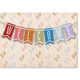Standard Postcard-Welcome Flags