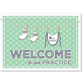 Standard Medical Welcome Postcards - Clothesline