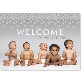 Standard Medical Welcome Postcards - Showering Hearts