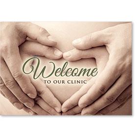 Standard Medical Welcome Postcards - Trusting Hands