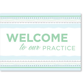 Standard Medical Welcome Postcards - Soothing Welcome