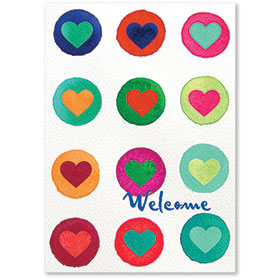 Standard Medical Welcome Postcards - A Bright Welcome