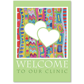 Standard Medical Welcome Postcards - Painterly Hearts