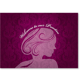 Standard Medical Welcome Postcards - Fuschia Welcome