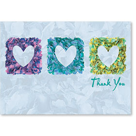 Standard Medical Thank You Postcards - Petals of Thankfulness