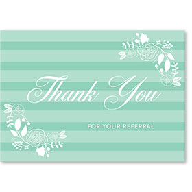 Standard Medical Thank You Postcards - Pastel Thank You