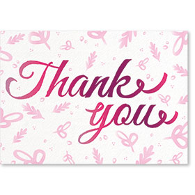 Standard Medical Thank You Postcards - Signature Thank You