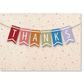Standard Medical Thank You Postcards - Grateful Banner