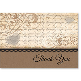 Standard Medical Thank You Postcards - Loyal Swirls