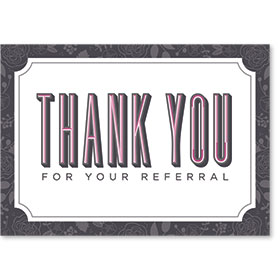 Standard Medical Thank You Postcards - Bold Thank You