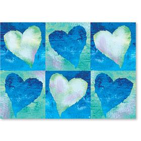Standard Medical Postcards - Hearts Reminder