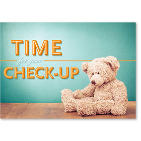 Standard Medical Postcards - Checkup Teddy