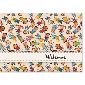 Standard Medical Welcome Postcards - Kid Print