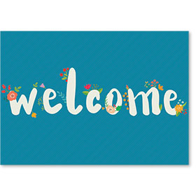Standard Medical Welcome Postcards - Blooming Welcome
