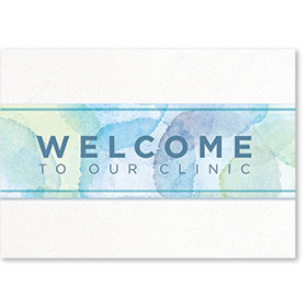 Standard Medical Welcome Postcards - Welcome Watercolor