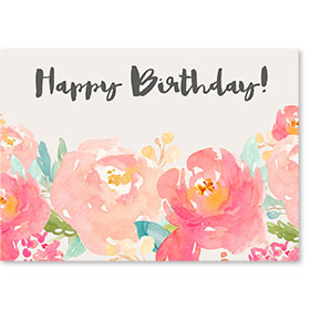Standard Medical Birthday Postcards - Modern Floral