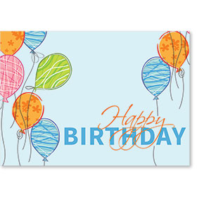 Standard Medical Birthday Postcards - Birthday Balloons