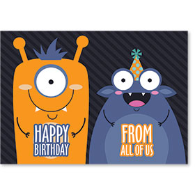 Standard Postcard-Monster Birthday