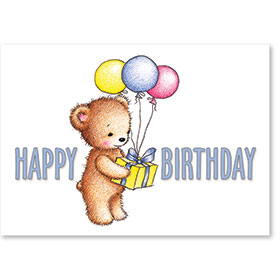 Standard Medical Birthday Postcards - Birthday Bear