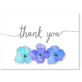 Standard Medical Thank You Postcards - Violet Thanks