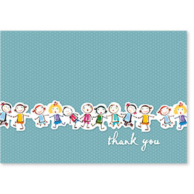 Standard Medical Thank You Postcards - Kids Lineup