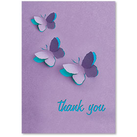 Standard Medical Thank You Postcards - Butterfly