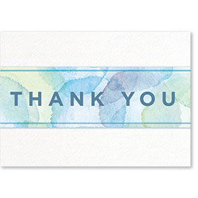 Standard Medical Thank You Postcards - Watercolor
