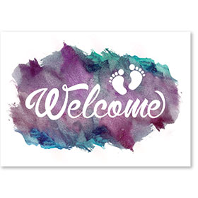 Standard Medical Welcome Postcards - Painted Welcome