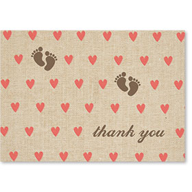 Standard Medical Thank You Postcards - Tiny Hearts