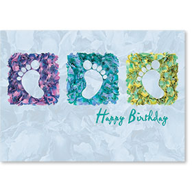 Standard Medical Birthday Postcards - Petals Happy Birthday