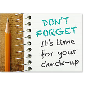 Standard Postcard-Notebook Reminder