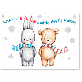 Standard Medical Postcards - Flu Season Friends