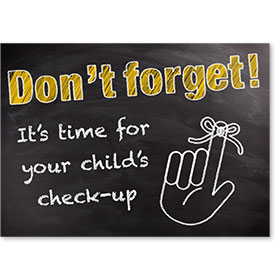 Standard Medical Postcards - Chalkboard Reminder