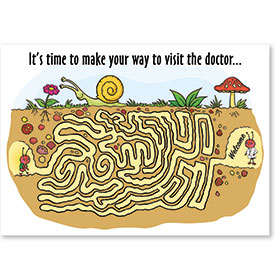 Standard Medical Postcards - Reminder Maze