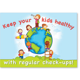 Standard Medical Postcards - Active Kids Reminder