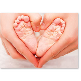 Standard Medical Postcards - Tiny Toes