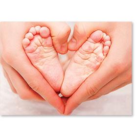 Standard Postcard-Tiny Toes
