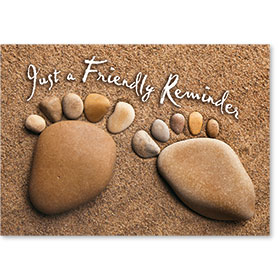 Standard Medical Postcards - Toes in the Sand